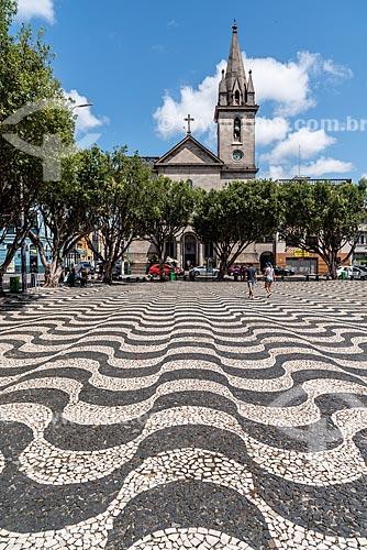 Praça São Sebastião - assim como em Copacabana o padrão foi inspirado na Praça do Rossio em Lisboa  - Manaus - Amazonas (AM) - Brasil
