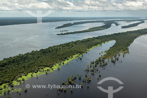 Foto aérea do Parque Nacional de Anavilhanas  - Manaus - Amazonas (AM) - Brasil
