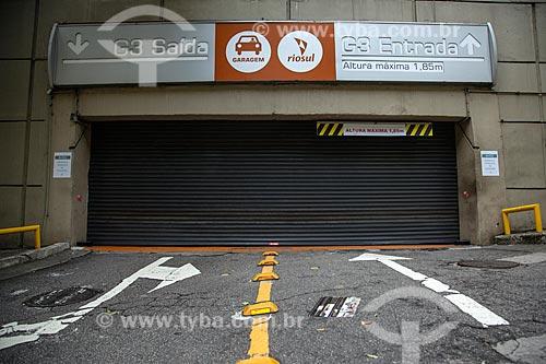Shopping Rio Sul fechado devido à Crise do Coronavírus  - Rio de Janeiro - Rio de Janeiro (RJ) - Brasil