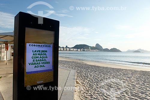 Painel digital informa sobre a pandemia Covid-19 - Crise do Coronavírus  - Rio de Janeiro - Rio de Janeiro (RJ) - Brasil
