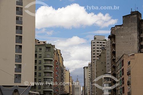 Prédios de São Paulo vistos do Minhocão  - São Paulo - São Paulo (SP) - Brasil