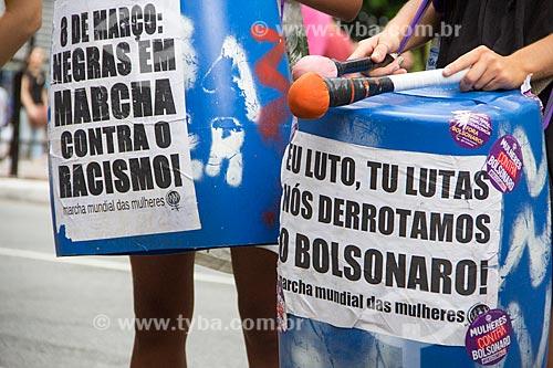 Ensaio da Marcha Mundial de Mulheres na Avenida Paulista  - São Paulo - São Paulo (SP) - Brasil