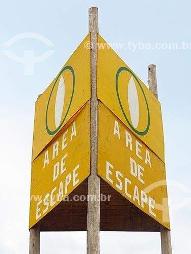 Placa de sinalização na Praia de Cidreira  - Cidreira - Rio Grande do Sul (RS) - Brasil