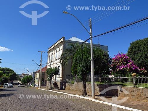 Rua com casas típicas  - Cotiporã - Rio Grande do Sul (RS) - Brasil
