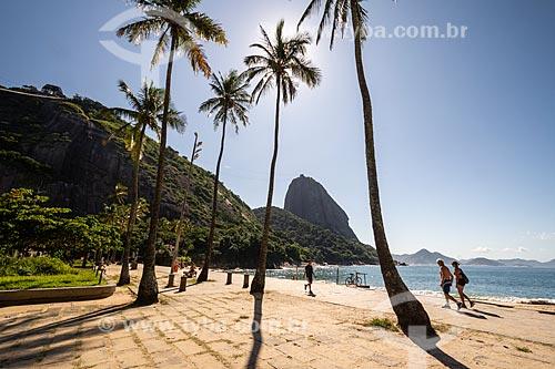 Praia Vermelha com poucas pessoas devido à Crise do Coronavírus  - Rio de Janeiro - Rio de Janeiro (RJ) - Brasil