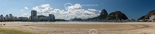 Praia de Botafogo com poucas pessoas devido à Crise do Coronavírus  - Rio de Janeiro - Rio de Janeiro (RJ) - Brasil