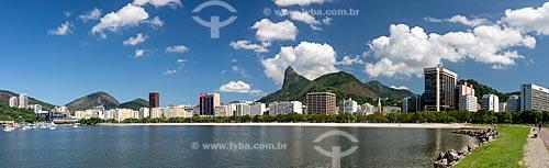 Praia de Botafogo sem pessoas devido à Crise do Coronavírus  - Rio de Janeiro - Rio de Janeiro (RJ) - Brasil