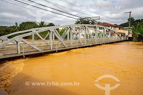 Cheia do Rio Pomba devido à fortes chuvas  - Guarani - Minas Gerais (MG) - Brasil