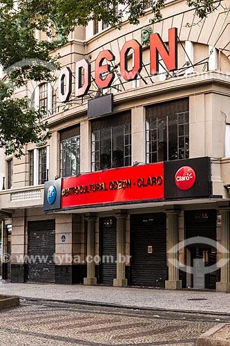 Centro Cultural Luiz Severiano Ribeiro (1926) - mais conhecido como Cine Odeon, fechado devido a crise do Coronavírus  - Rio de Janeiro - Rio de Janeiro (RJ) - Brasil