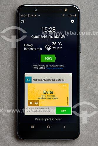 Campanha da Prefeitura via telefone celular para combate a pandemia - Crise do Coronavírus  - Rio de Janeiro - Rio de Janeiro (RJ) - Brasil