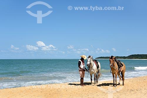 Aluguel de cavalos para passeio na Praia do Rio Verde  - Porto Seguro - Bahia (BA) - Brasil
