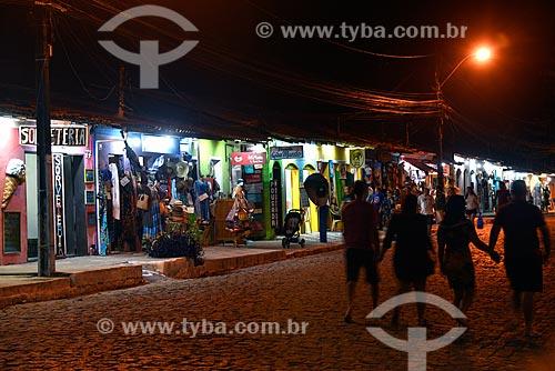 Turistas no centro histórico de Arraial DAjuda  - Porto Seguro - Bahia (BA) - Brasil