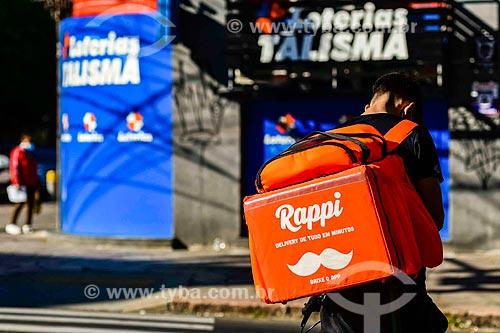 Ciclista entregador de restaurante - via aplicativo Rappi  - Porto Alegre - Rio Grande do Sul (RS) - Brasil
