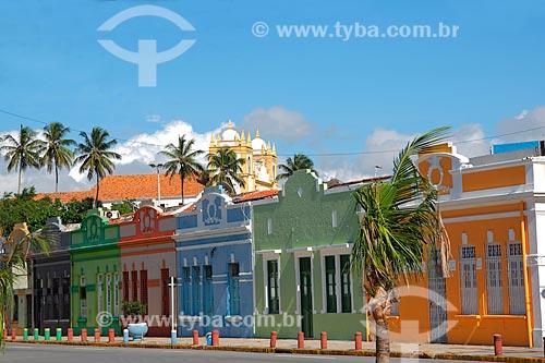 Fachada de casarios na Rua do Sol  - Olinda - Pernambuco (PE) - Brasil