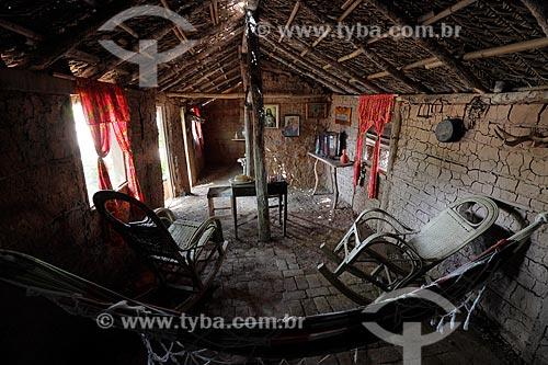 Interior de casa pantaneira  - Poconé - Mato Grosso (MT) - Brasil