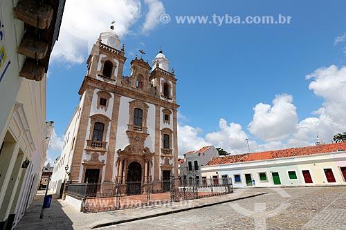 Pátio de São Pedro e a Concatedral de São Pedro dos Clérigos (1782)   - Recife - Pernambuco (PE) - Brasil