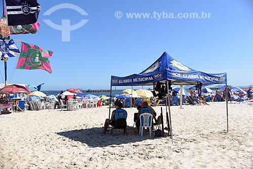 Barraca da Guarda Municipal na Praia de Copacabana  - Rio de Janeiro - Rio de Janeiro (RJ) - Brasil