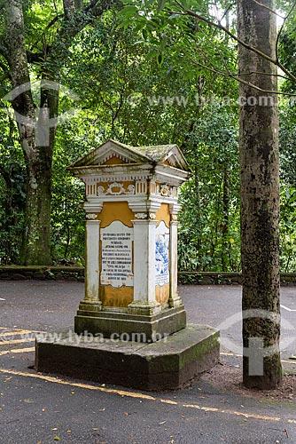 Monumento ao Barão de Taunay no Parque Nacional da Tijuca  - Rio de Janeiro - Rio de Janeiro (RJ) - Brasil