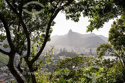 Vista do Cristo Redentor a partir do mirante do Pão de Açúcar  - Rio de Janeiro - Rio de Janeiro (RJ) - Brasil