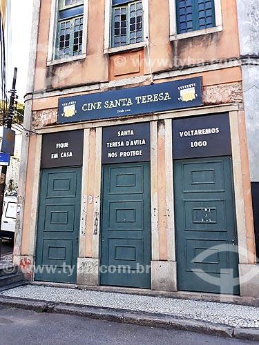 Cine Santa Teresa, fechado devido a crise do Coronavírus  - Rio de Janeiro - Rio de Janeiro (RJ) - Brasil