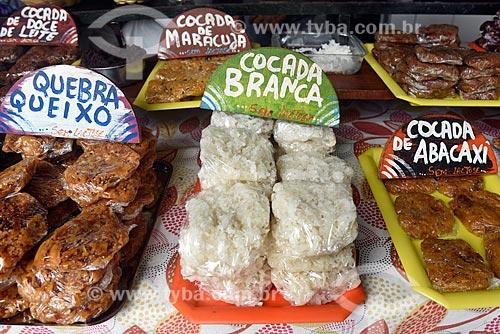 Doces à venda em loja no centro histórico da cidade  - Porto Seguro - Bahia (BA) - Brasil