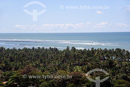 Vista panorâmica da Costa do Descobrimento em Arraial DAjuda  - Porto Seguro - Bahia (BA) - Brasil