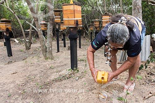 Criação de abelhas para produção de mel - Terra Indígena Pau Brasil da etnia Tupiniquim - ACRÉSCIMO DE 100% SOBRE O VALOR DE TABELA  - Aracruz - Espírito Santo (ES) - Brasil