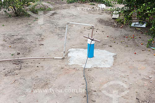 Poço artesiano em casa de indígena - Terra Indígena Pau Brasil da etnia Tupiniquim - ACRÉSCIMO DE 100% SOBRE O VALOR DE TABELA  - Aracruz - Espírito Santo (ES) - Brasil