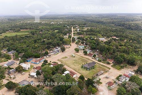 Foto feita com drone do núcleo principal da Aldeia Pau Brasil - Terra Indígena Pau Brasil da etnia Tupiniquim - ACRÉSCIMO DE 100% SOBRE O VALOR DE TABELA  - Aracruz - Espírito Santo (ES) - Brasil