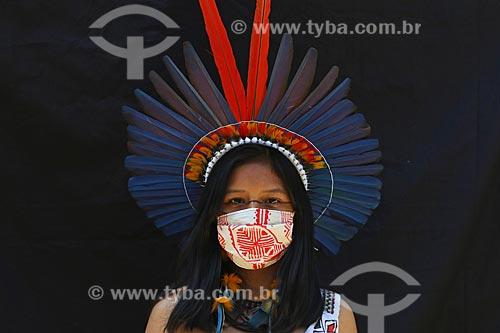 Pâmela Ilhas, de mãe Sateré e pai Dessana, representante étnica da Amazônia brasileira no Fridays For Future, movimento liderado pela ativista ambiental Greta Thunberg  - Manaus - Amazonas (AM) - Brasil