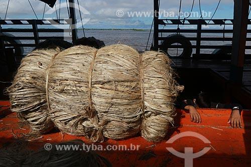 Desembarque de Juta  - Manacapuru - Amazonas (AM) - Brasil