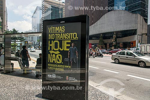 Campanha pela redução do número de mortos no trânsito  - São Paulo - São Paulo (SP) - Brasil
