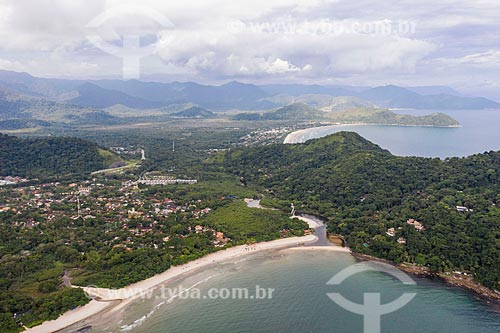 Foto feita com drone da Praia Barra do Sahy  - São Sebastião - São Paulo (SP) - Brasil