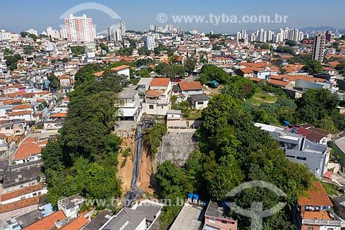 Foto feita com drone de deslizamento de terra em encosta na Praça Doutor Pentado Médici  - São Paulo - São Paulo (SP) - Brasil