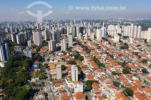 Foto feita com drone da prédios residenciais e casas  - São Paulo - São Paulo (SP) - Brasil