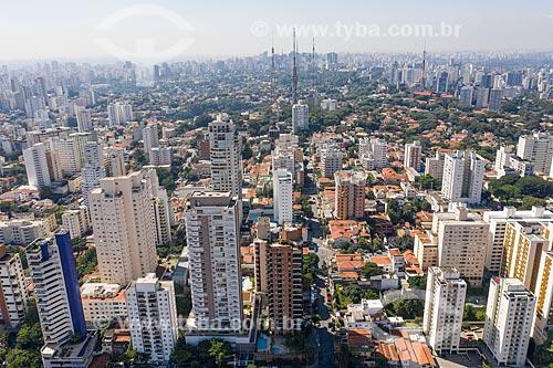 Foto feita com drone da prédios residenciais  - São Paulo - São Paulo (SP) - Brasil