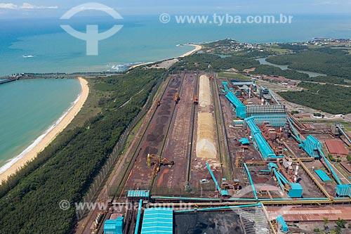 Foto feita com drone de unidade de pelotização da mineradora  Samarco  - Anchieta - Espírito Santo (ES) - Brasil