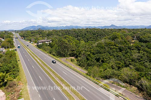 Foto feita com drone da Rodovia do Sol (ES-060)  - Vila Velha - Espírito Santo (ES) - Brasil