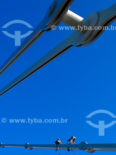 Manutenção na Ponte Hercílio Luz  - Florianópolis - Santa Catarina (SC) - Brasil