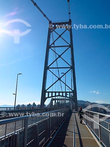 Ponte Hercílio Luz após reforma   - Florianópolis - Santa Catarina (SC) - Brasil