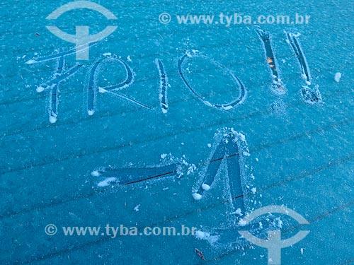 Gelo em vidro de carro  - Canela - Rio Grande do Sul (RS) - Brasil