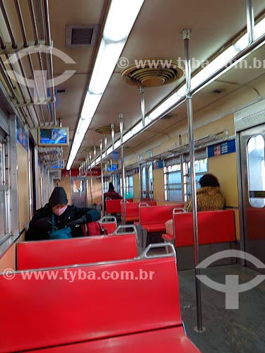 Trem da Trensurb com poucos passageiros devido a crise do Coronavírus  - Porto Alegre - Rio Grande do Sul (RS) - Brasil