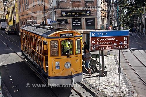 Bonde de Santa Teresa no Largo dos Guimarães  - Rio de Janeiro - Rio de Janeiro (RJ) - Brasil