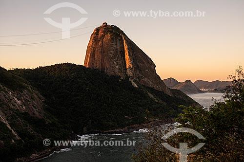 Vista do Pão de Açúcar a partir do Morro da Babilônia  - Rio de Janeiro - Rio de Janeiro (RJ) - Brasil