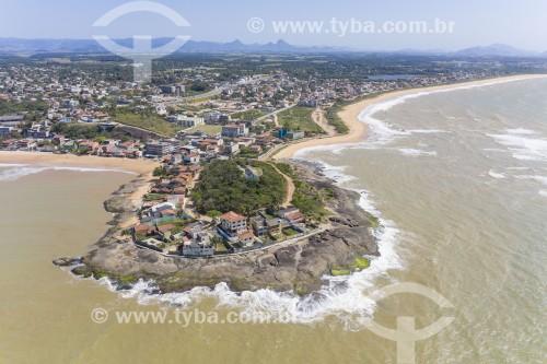 Foto feita com drone da Praia Ponta da Fruta - Vila Velha - Espírito Santo (ES) - Brasil