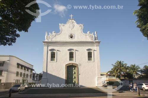 Fachada da Igreja de Nossa Senhora do Rosário - construção do século XVI reedificada no século XVII sobre a antiga capela de 1535 - Vila Velha - Espírito Santo (ES) - Brasil