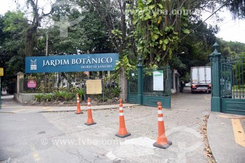 Entrada do Jardim Botânico do Rio de Janeiro - Rio de Janeiro - Rio de Janeiro (RJ) - Brasil