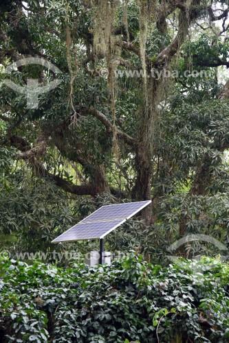 Painel de captação de energia solar - Jardim Botânico do Rio de Janeiro - Rio de Janeiro - Rio de Janeiro (RJ) - Brasil
