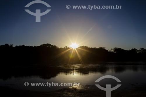 Nascer do Sol no Rio Parnaíba - Divisa do Piauí com o Maranhão - União - Piauí (PI) - Brasil