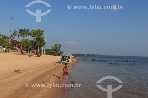 Praia da Maresia no Rio Maués-Açu - Maués - Amazonas (AM) - Brasil
